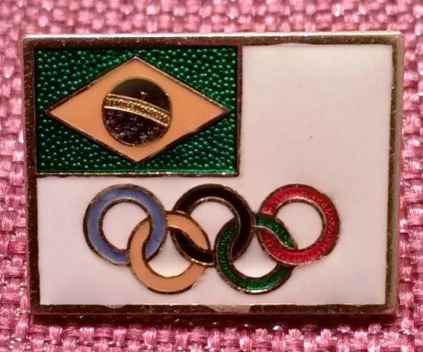 Broche oficial da equipe olímpica brasileira